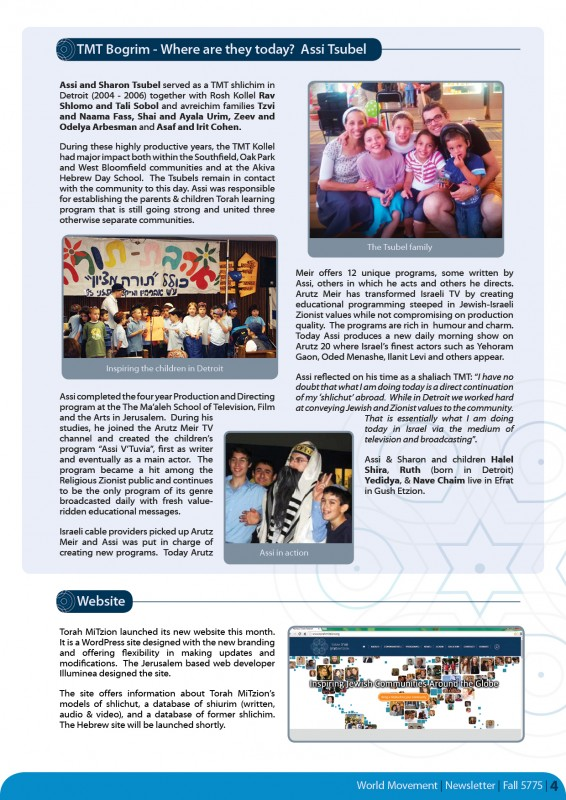 Fall Newsletter 5775 - page 4